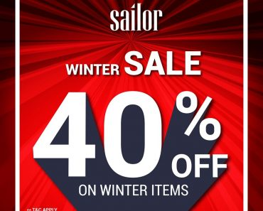 Sailor Offer January 2020: Get 40% OFF on Winter Items!