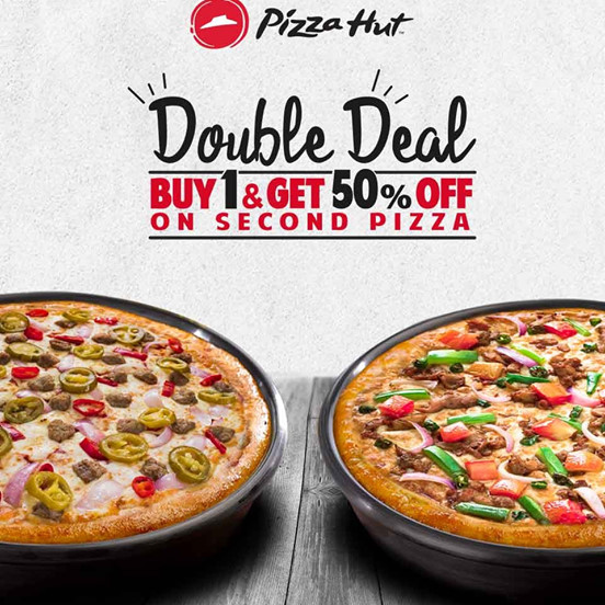 Pizza Hut January 2020 Buy 1 And Get 50 Off On Second Gorom Offer
