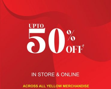 YELLOW Offer January 2020: Enjoy 50% OFF on YELLOW!